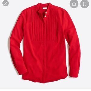 J Crew Factory drapey tuxedo blouse sz xs